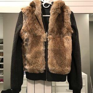 Juicy Couture Reversible Fur Hooded Jacket